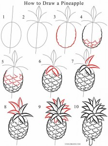 How to Draw a Pineapple Step by Step