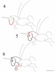How to Draw a Unicorn Step 2