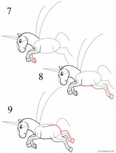 How to Draw a Unicorn Step 3
