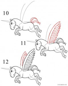 How to Draw a Unicorn Step 4