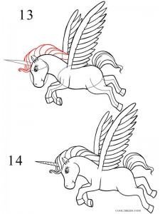 How to Draw a Unicorn Step 5
