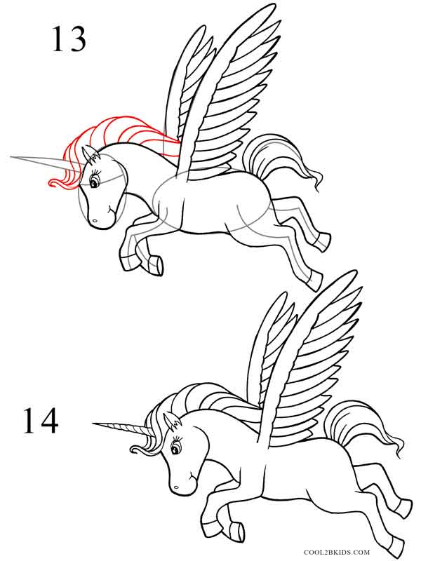 How to Draw a Unicorn (Step by Step Pictures) | Cool2bKids