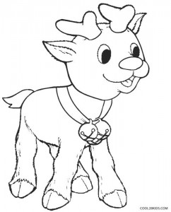 Baby Rudolph Coloring Pages