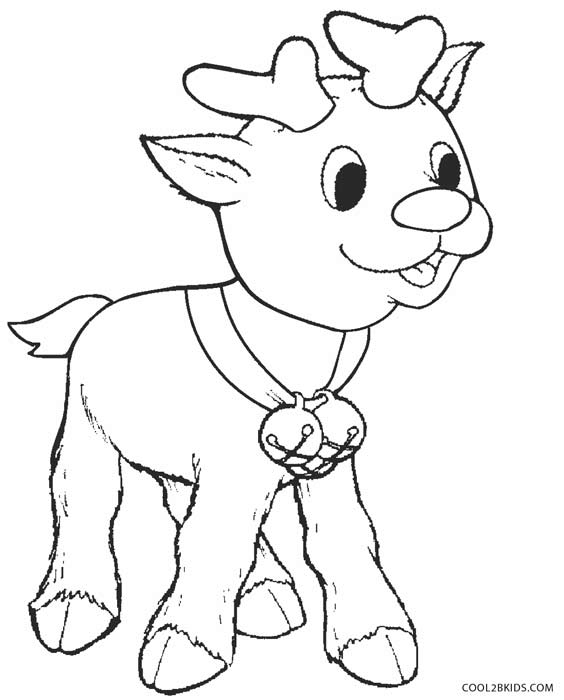 rudolph coloring pages images - photo#19