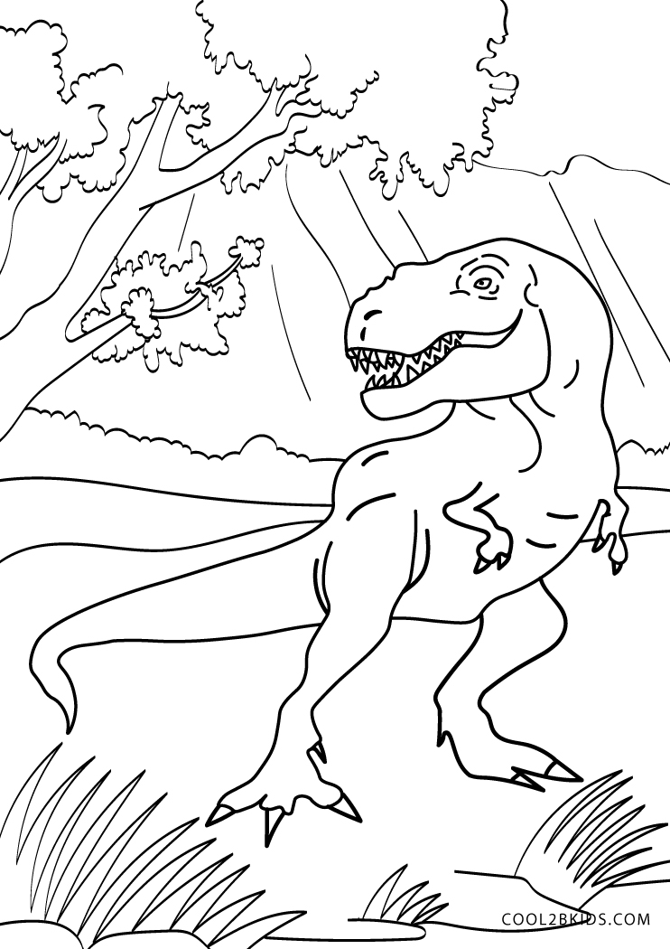 kids coloring pages dinosaurs - photo#18