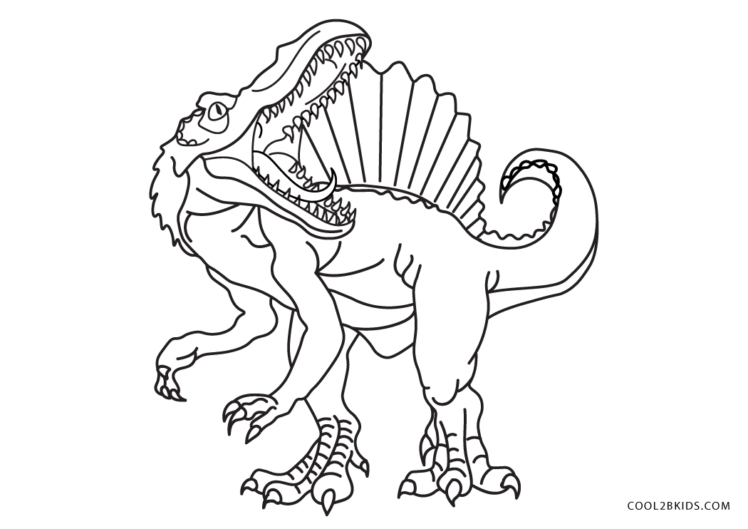 Free Printable Dinosaur Coloring Pages For Kids - Coloring Pages | 787x850