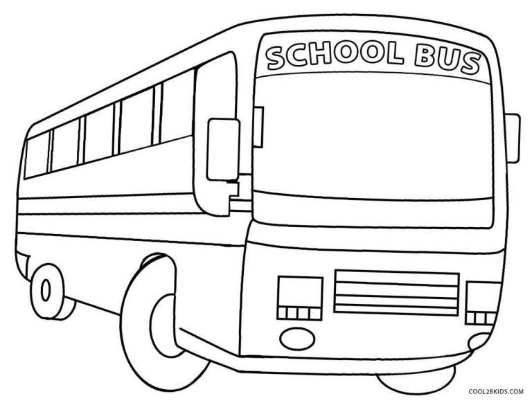 School Bus Coloring Pages For Kindergarten : Preschool school bus coloring pages safety
