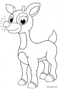 Free Rudolph Coloring Pages