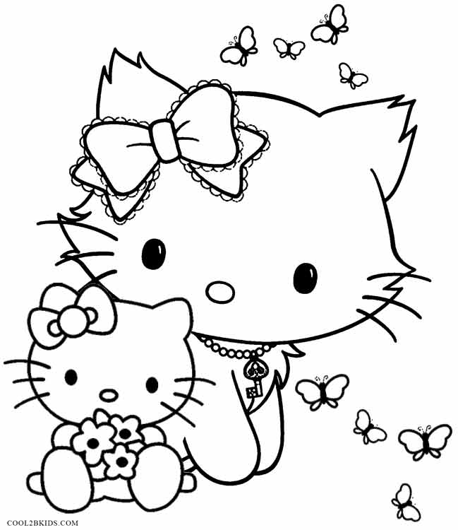 Coloring Pages For Girls: Printable Funny Coloring Pages For Kids