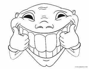 Funny Face Coloring Pages