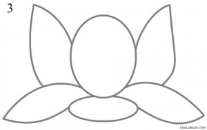 How to Draw Lotus Flower Step 3