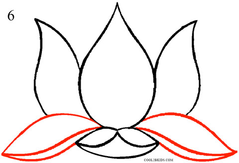 How to draw lotus flower step by step pictures cool2bkids how to draw lotus flower step 6 mightylinksfo