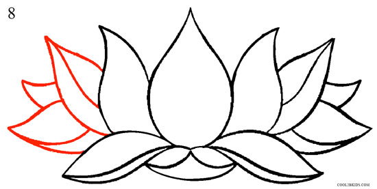 How to draw lotus flower step by step pictures cool2bkids how to draw lotus flower step 8 mightylinksfo