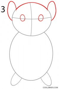 How to Draw a Hamster Step 3