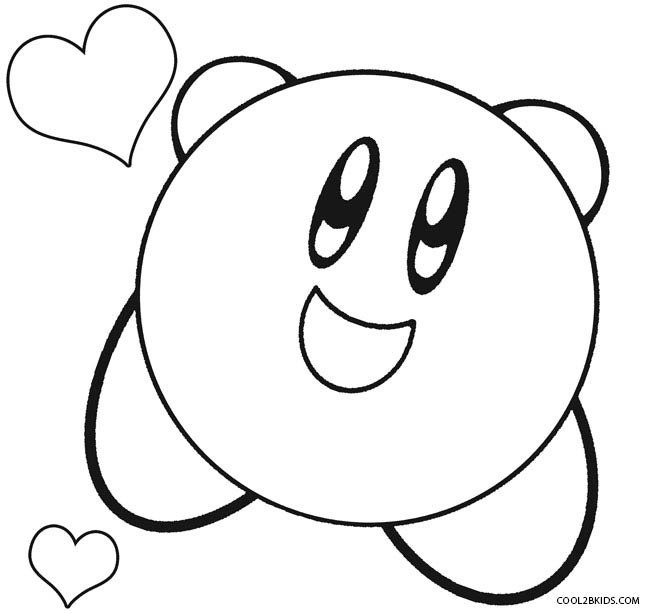 Kirby coloring pages to print coloring pages for Cute kirby coloring pages