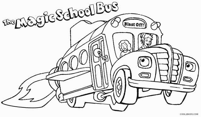 Great Magic School Bus Coloring Pages