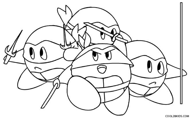 ninja kirby coloring pages - Kirby Coloring Pages