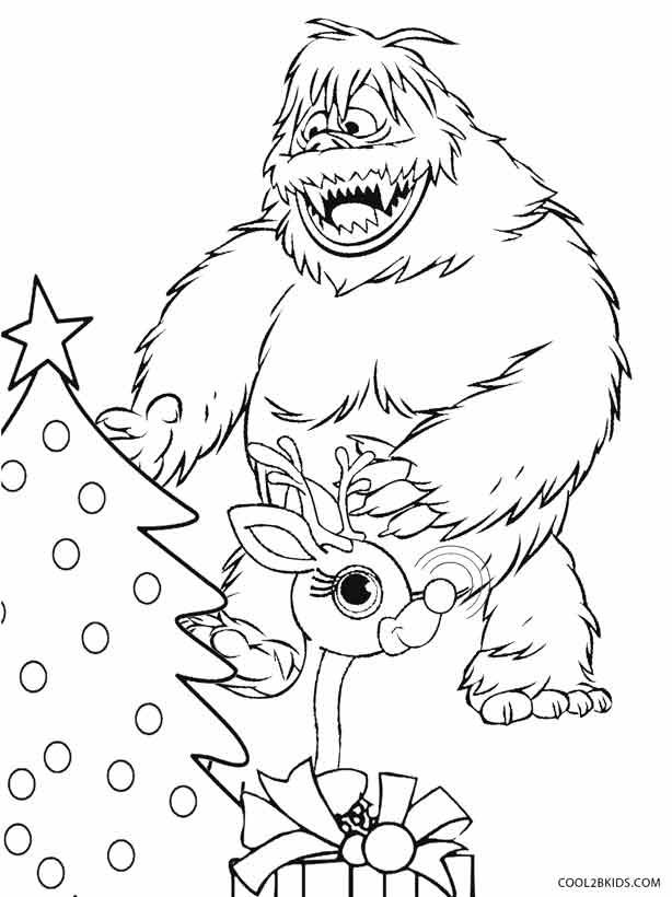 rudolph bumble coloring pages