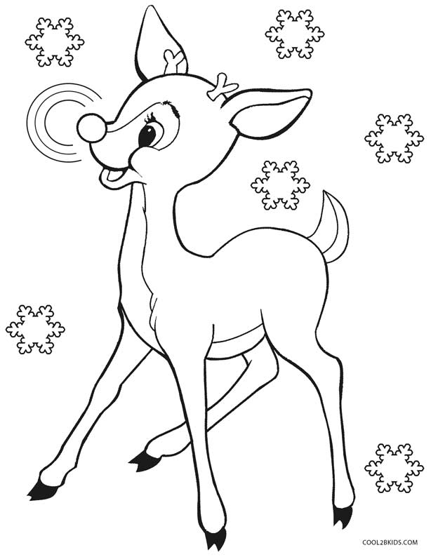 Printable Rudolph Coloring Pages