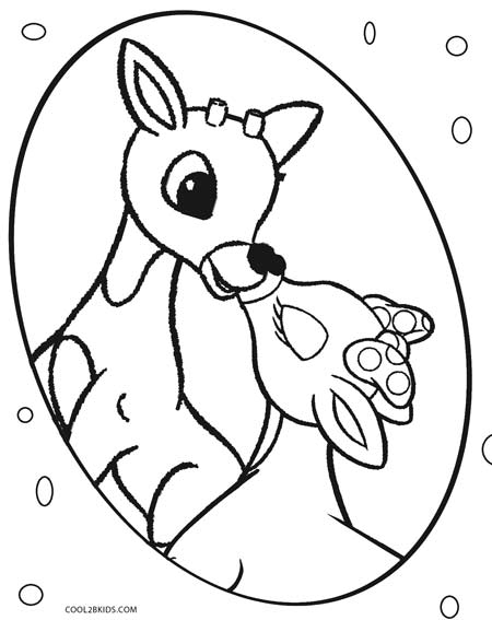 Printable Rudolph Coloring Pages For Kids | Cool2bKids