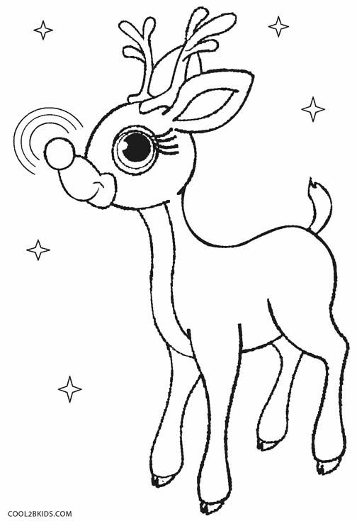 Printable rudolph coloring pages for kids cool2bkids for Rudolph the red nosed reindeer template