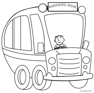School Bus Coloring Page Printable