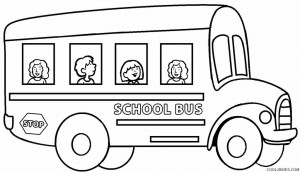 School Bus Coloring Page For Kids