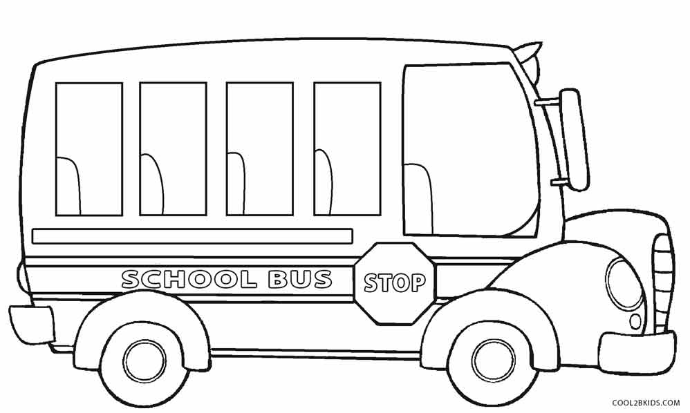 Good School Bus Coloring Page