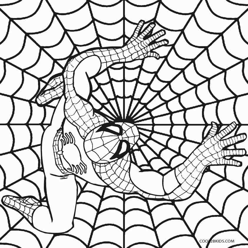 Printable Spiderman Coloring Pages For Kids Cool2bKids - SPIDERMAN