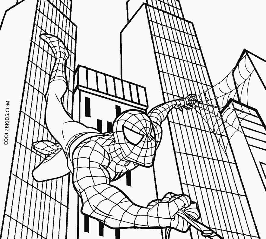 Printable spiderman coloring pages for kids cool2bkids for Spiderman coloring book pages