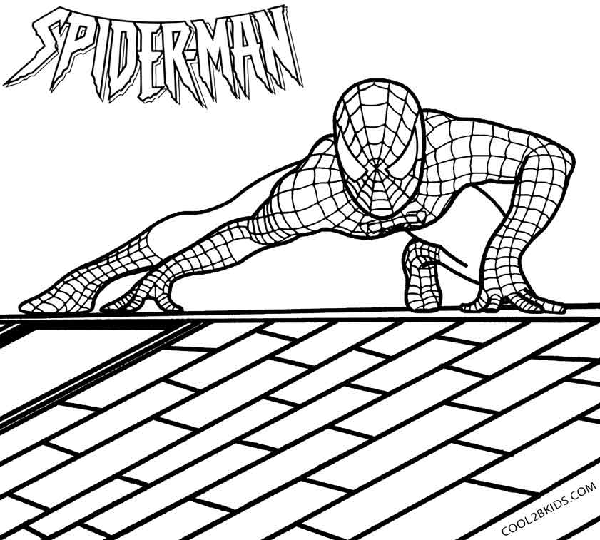 spiderman color pages - Spiderman Coloring Page