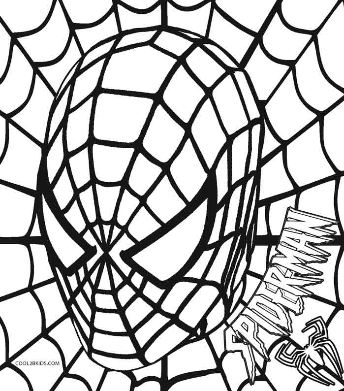 Coloring pages spiderman easy symbol