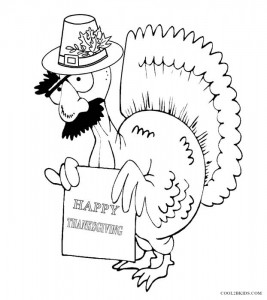 Thanksgiving Funny Coloring Pages