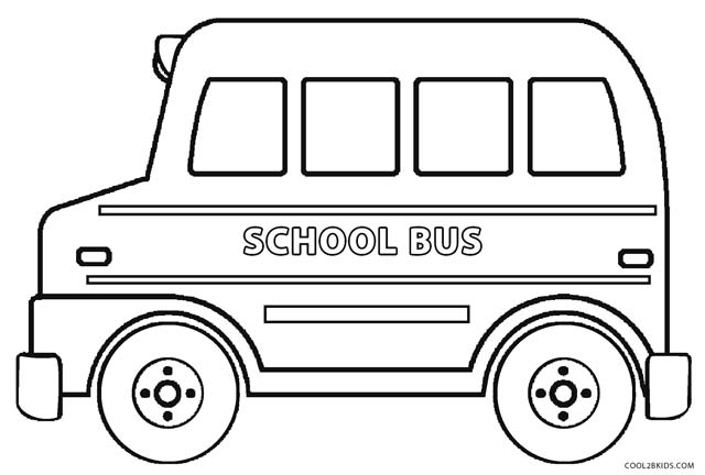 coloring pages bus - photo#23
