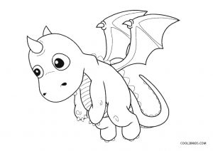 Printable Dragon Coloring Pages For Kids