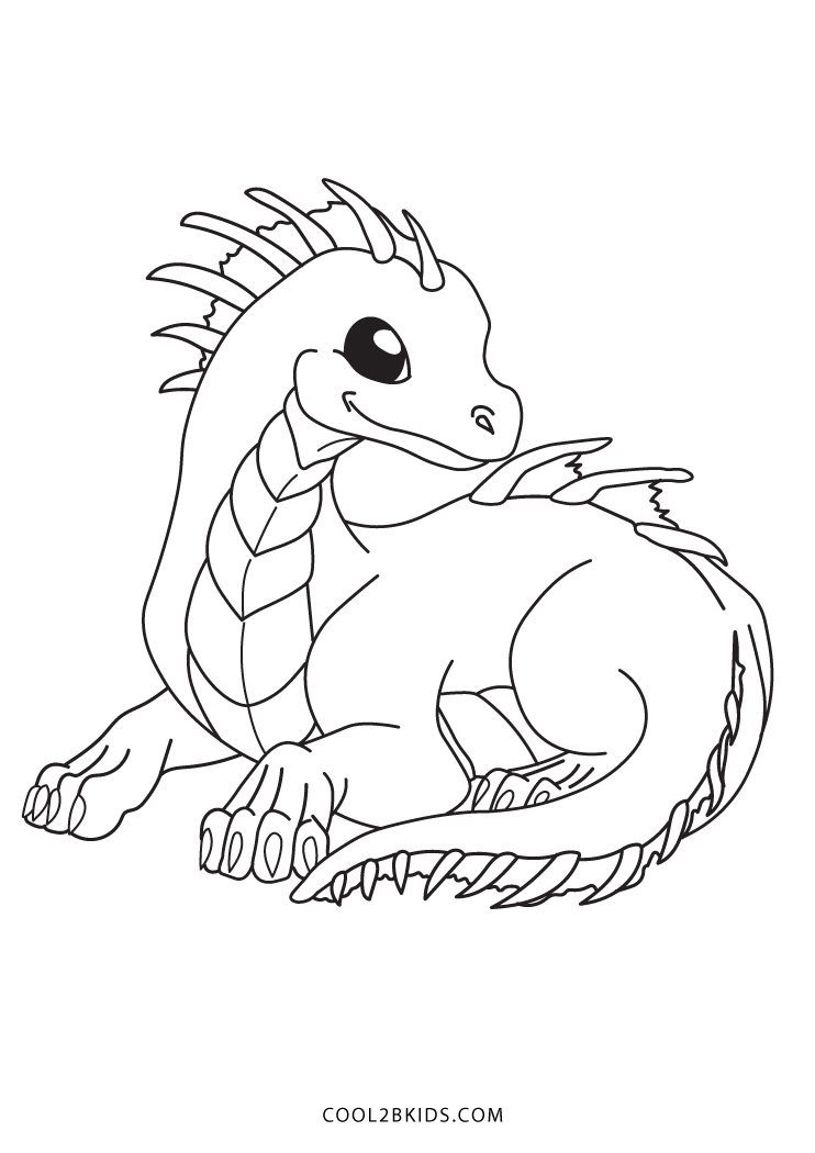 baby dragon coloring pages - Printable Dragon Coloring Pages
