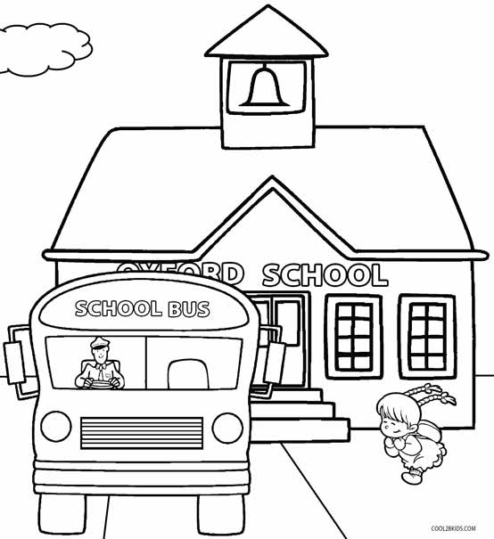kindergarten coloring pages school - photo#6