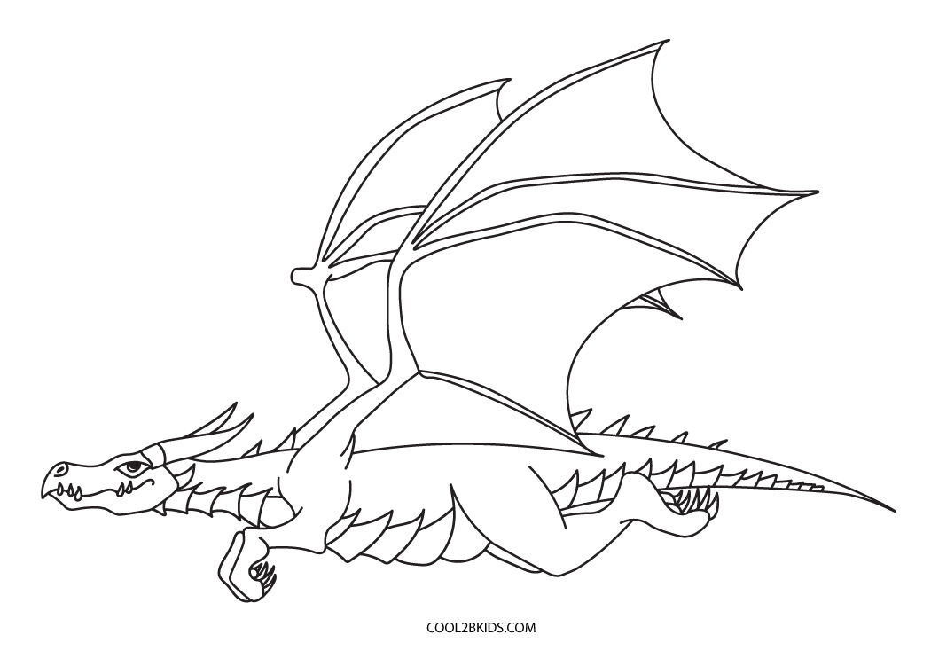 Coloring Pages Dragons : Printable dragon coloring pages for kids cool bkids