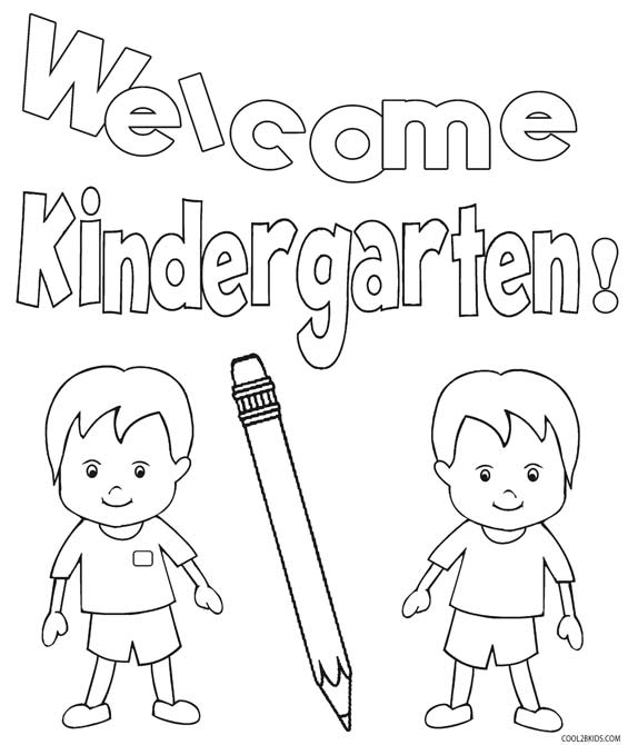 free kindergarten coloring pages