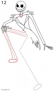 How to Draw Jack Skellington Step 12