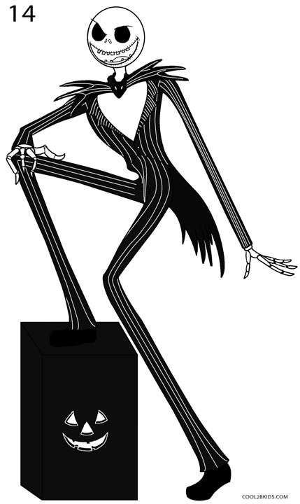 How to Draw Jack Skellington (Step by Step Pictures ...