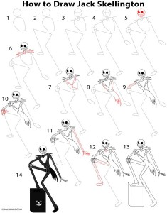 How to Draw Jack Skellington Step by Step
