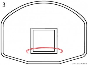 How to Draw a Basketball Hoop Step 3