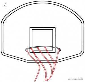 How to Draw a Basketball Hoop Step 4
