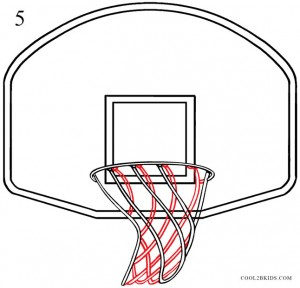 How to Draw a Basketball Hoop Step 5