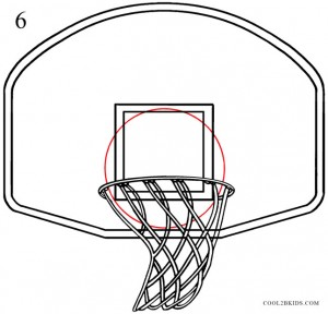 How to Draw a Basketball Hoop Step 6