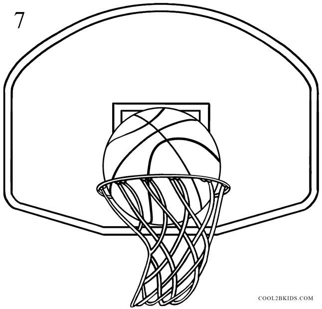 how to draw a basketball hoop  step by step pictures