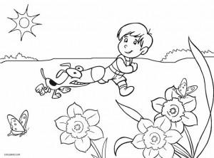Kindergarten Coloring Page