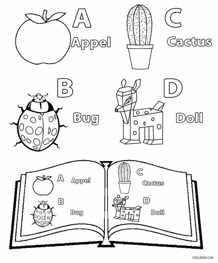 Printable Kindergarten Coloring Pages For Kids