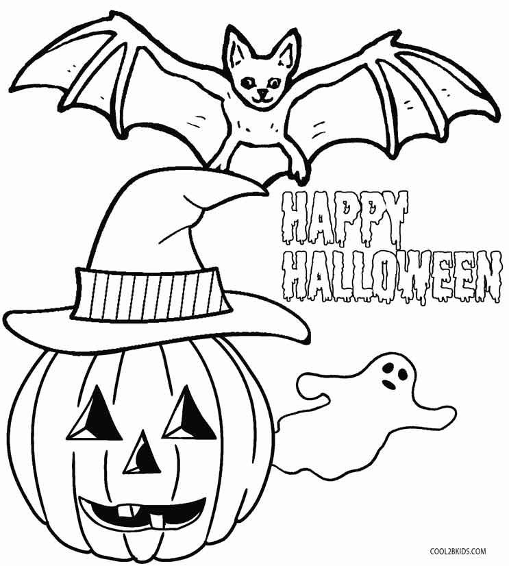 Kindergarten Halloween Coloring Pages